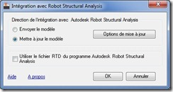 Revit Structure export vers Robot Structural Analysis