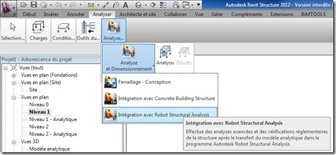 Revit Structure vers Robot Structural Analysis
