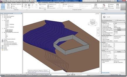 Revit Structure - Topographie - deblais remblais