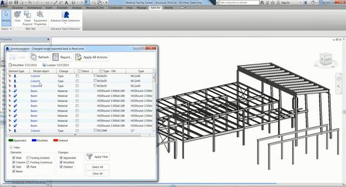 Image 3 - Synchronization (boite de dialogue) in Revit 2016